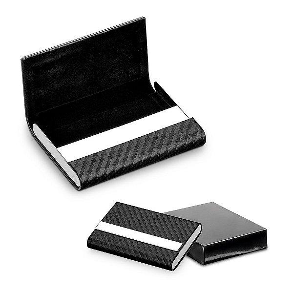 Porta cartões metálico encapado em material sintético - Cód.: 93280SQ