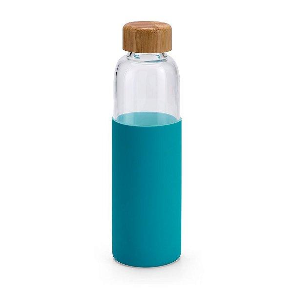 Squeeze de vidro 600 ml com tampa em bambu - Cód.: 94699SQ