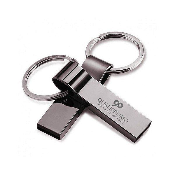 Pen drive chaveiro metálico personalizado - Cód.: PEN18GQ