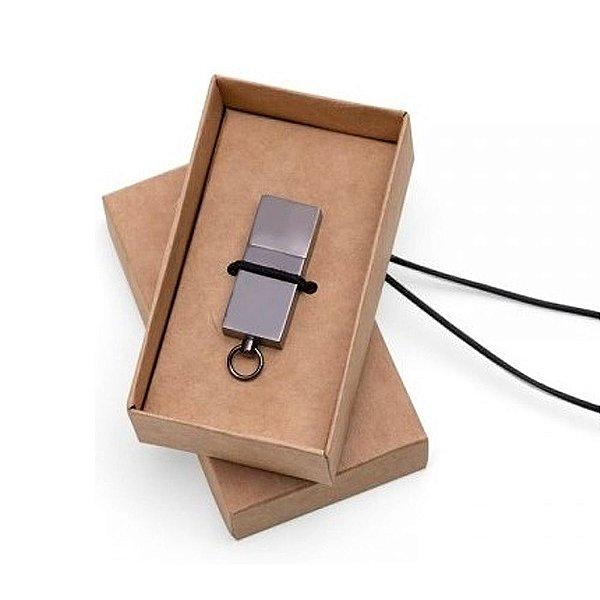 Caixinha em papel Kraft para pen drive - Cód.: EMB02GQ