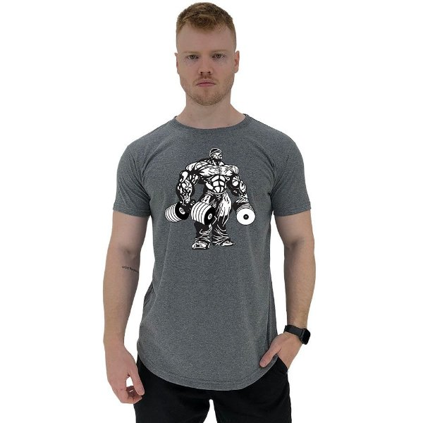 Camiseta Longline Manga Curta MXD Conceito Bodybuilding