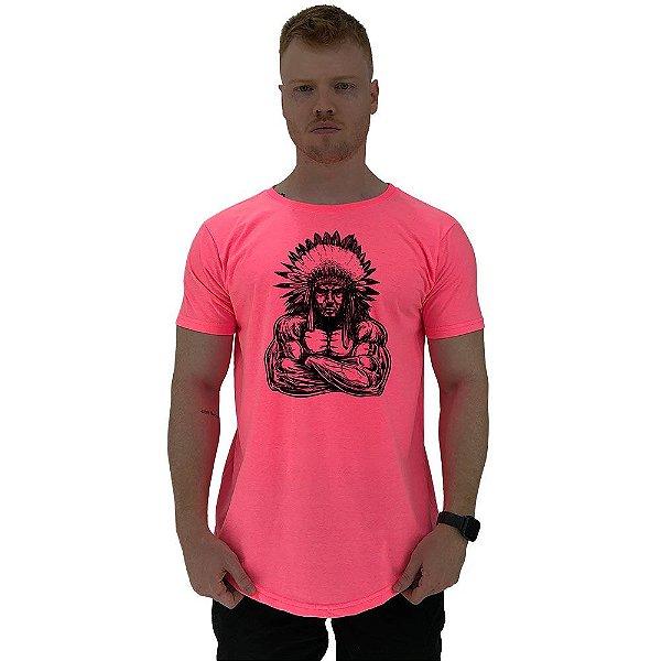 Camiseta Longline Manga Curta MXD Conceito Cacique Maromba
