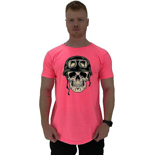 Camiseta Longline Manga Curta MXD Conceito Caveira Militar