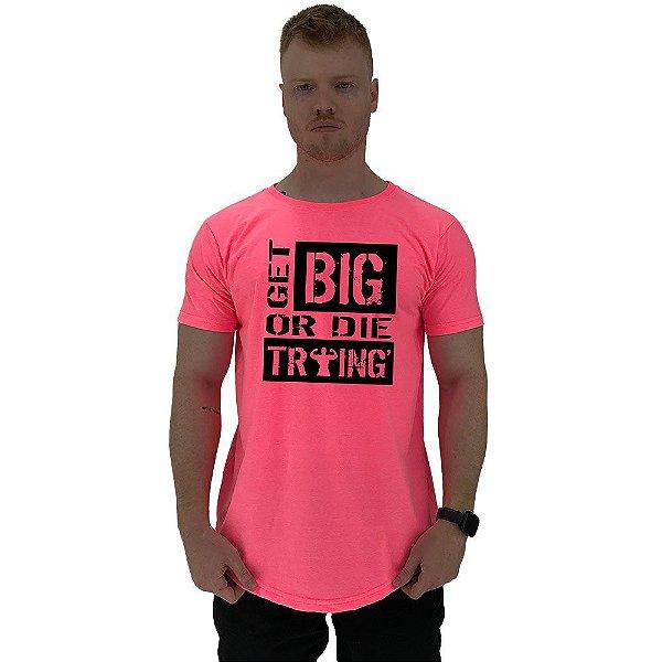 Camiseta Longline Manga Curta MXD Conceito Get Big Or Die Training