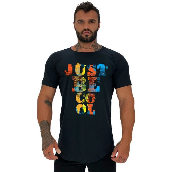 Camiseta Masculina Longline Manga Curta MXD Conceito Just Be Cool