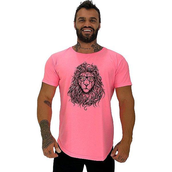 Camiseta Longline Masculina Manga Curta MXD Conceito Lion