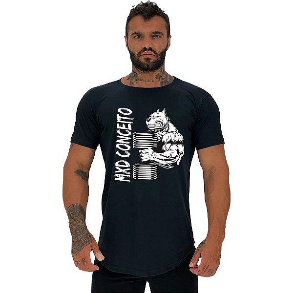 Camiseta Longline Masculina Manga Curta MXD Conceito Pitbull BodyBuilder