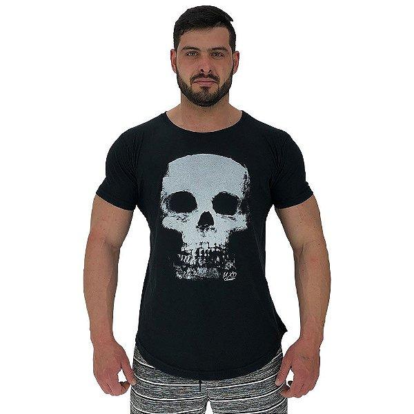 Camiseta Longline Masculina Manga Curta MXD Conceito Skull X-Ray