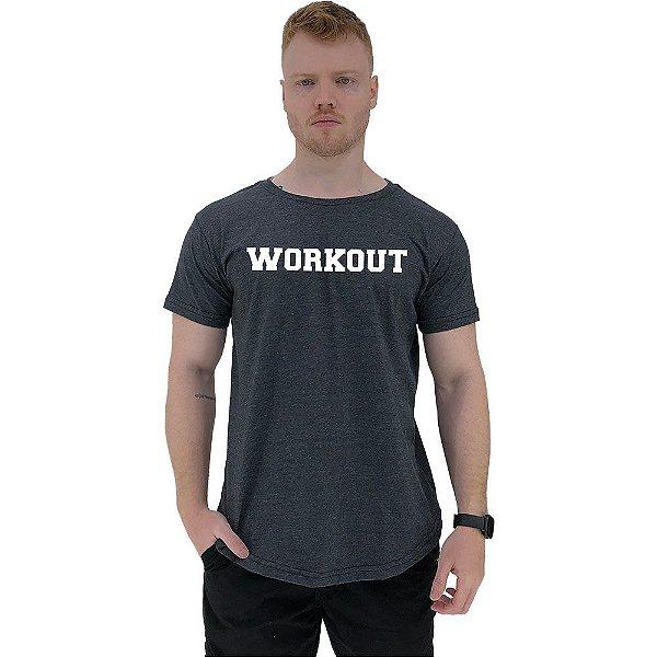 Camiseta Longline Masculina Manga Curta MXD Conceito Workout