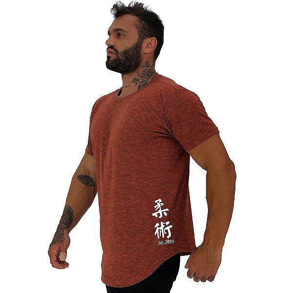 Camiseta Longline Masculina MXD Conceito Estampa Lateral Jiu Jitsu