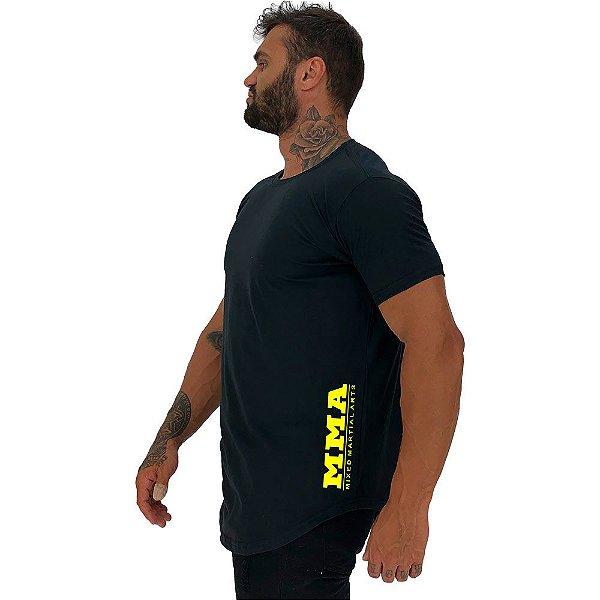 Camiseta Longline Masculina MXD Conceito Estampa Lateral MMA Mixed Martial Arts