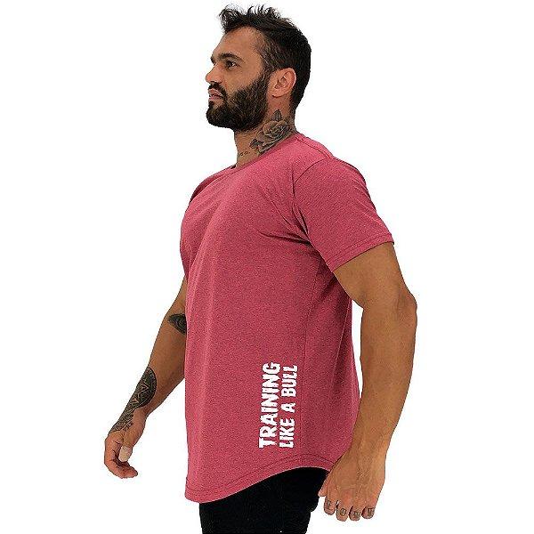 Camiseta Longline Masculina MXD Conceito Estampa Lateral Training Like a Bull