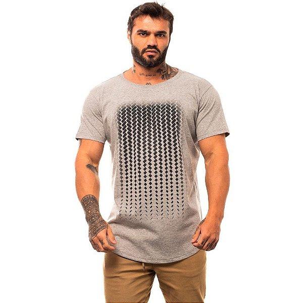Camiseta Longline Masculina MXD Conceito Limitada Degradê Retangular