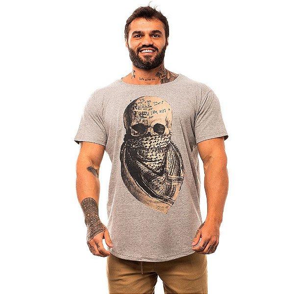Camiseta Longline Masculina MXD Conceito Limitada Desert Skull Bandana