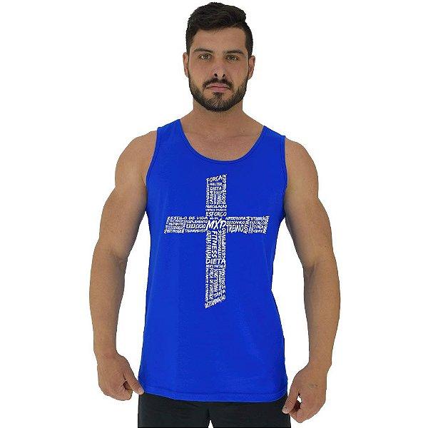 Regata Clássica Tradicional Masculina MXD Conceito Crucifixo Motivacional