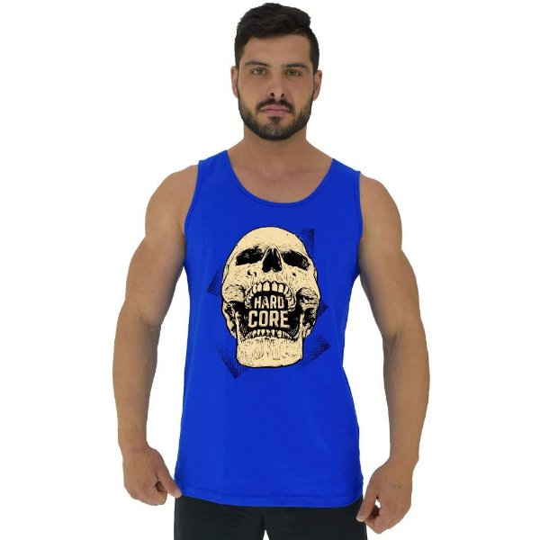 Regata Clássica Tradicional Masculina MXD Conceito Hardcore Skull