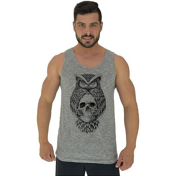 Regata Clássica Tradicional Masculina MXD Conceito Owl And Skull