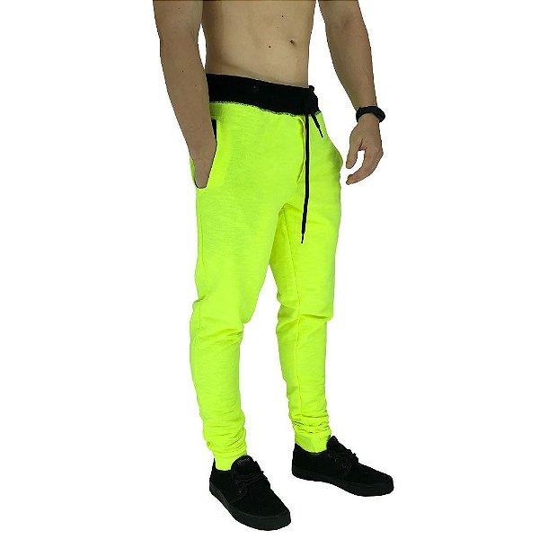 Calça Masculina Moletom MXD Conceito Amarelo Flúor