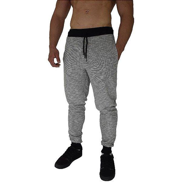 Calça Masculina Moletom MXD Conceito Mescla Escurecido