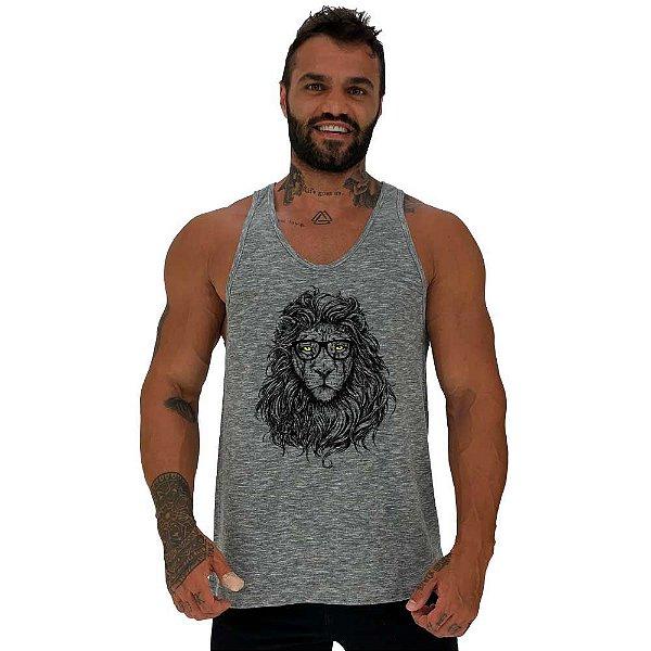 Regata Cavada Masculina MXD Conceito Lion Leão Intelectual Sabio