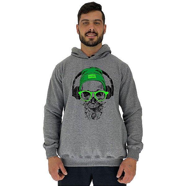 Blusa Moletom Masculino MXD Conceito Com Touca Caveira Headphone