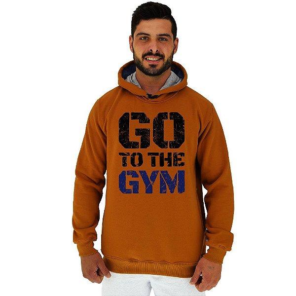 Blusa Moletom Masculino MXD Conceito Com Touca Go To The Gym