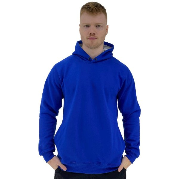 Blusa Moletom Masculino MXD Conceito Com Touca Azul Royal