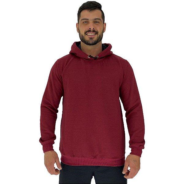Blusa Moletom Masculino MXD Conceito Com Touca Vermelho