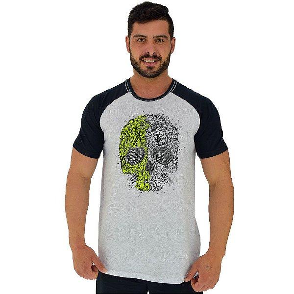 Camiseta Tradicional Masculina Manga Curta MXD Conceito Caveira Matagal