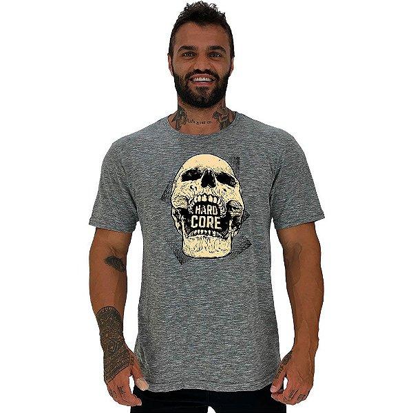 Camiseta Tradicional Masculina Manga Curta MXD Conceito Hardcore Skull