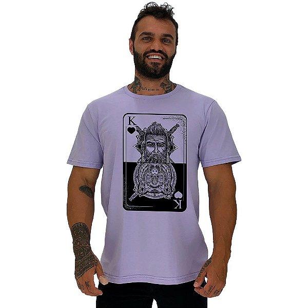 Camiseta Tradicional Masculina Manga Curta MXD Conceito Rei Lobo