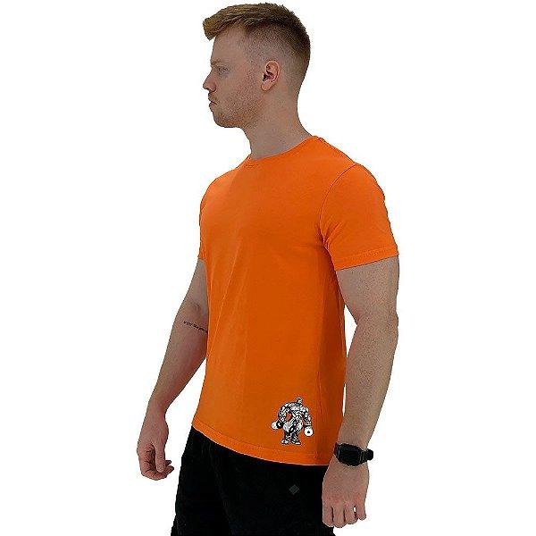 Camiseta Tradicional Masculina MXD Conceito Estampa Lateral Bodybulder