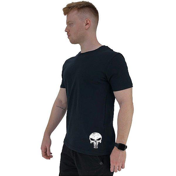 Camiseta Tradicional Masculina MXD Conceito Estampa Lateral Caveira Vingador