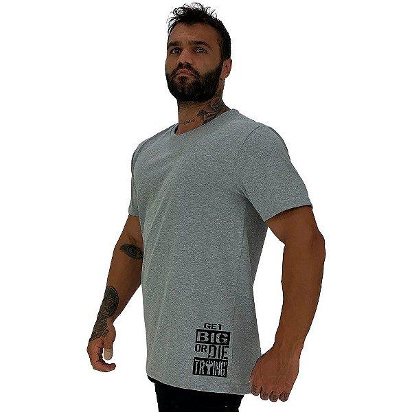 Camiseta Tradicional Masculina MXD Conceito Estampa Lateral Get Big Or Die Traing