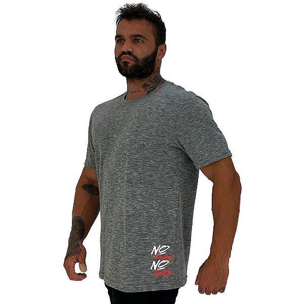 Camiseta Tradicional Masculina MXD Conceito Estampa Lateral No Pain No Gain