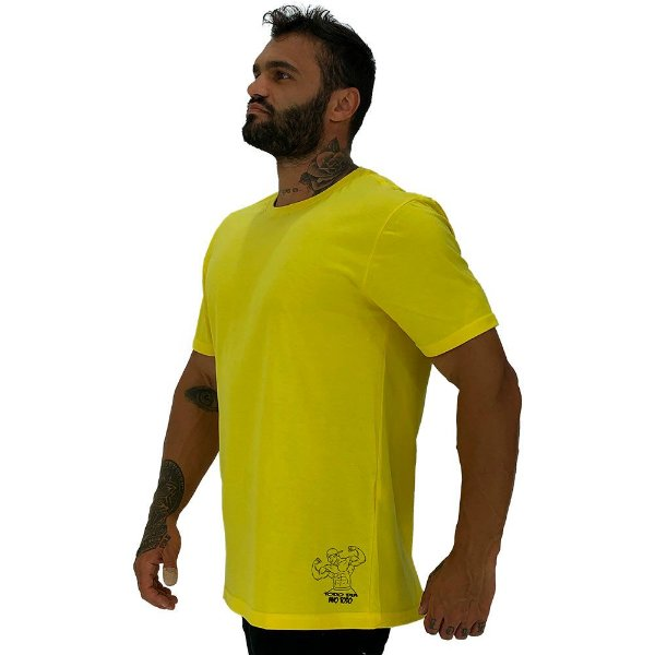 Camiseta Tradicional Masculina MXD Conceito Estampa Lateral Todo Dia Ano Todo