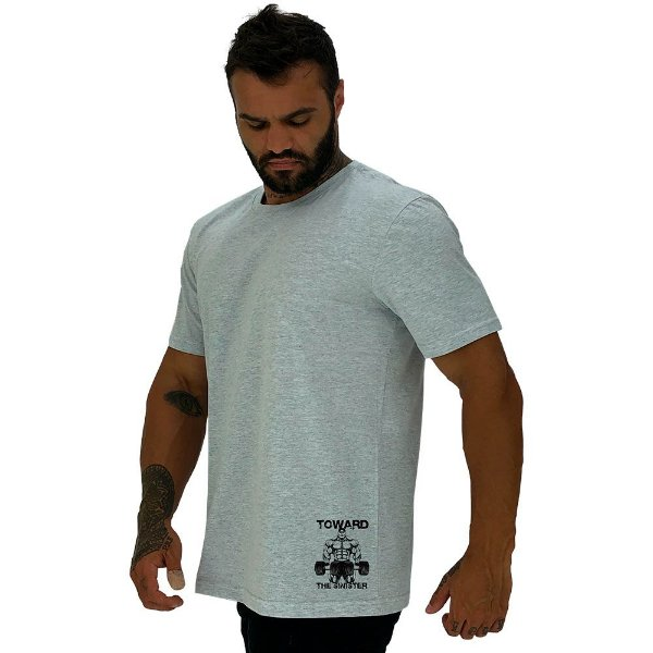 Camiseta Tradicional Masculina MXD Conceito Estampa Lateral Toward The Sinister