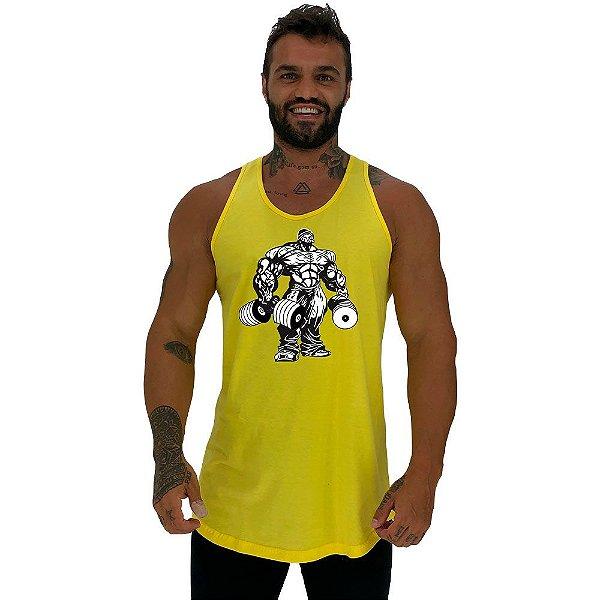 Regata Longline Masculina MXD Conceito Bodybuilding com Halteres