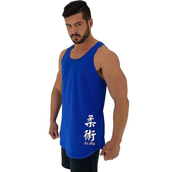 Regata Longline Masculina MXD Conceito Estampa Lateral Jiu Jitsu
