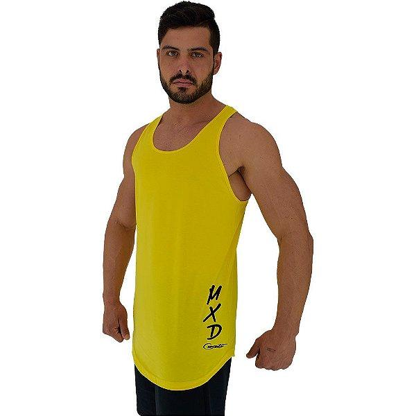 Regata Longline Masculina MXD Conceito Estampa Lateral Logo Vertical
