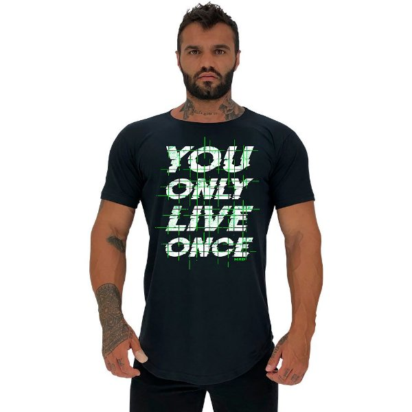 Camiseta Longline Manga Curta MXD Conceito You Only Live Once