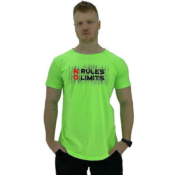 Camiseta Longline Manga Curta MXD Conceito No Rules No Limits
