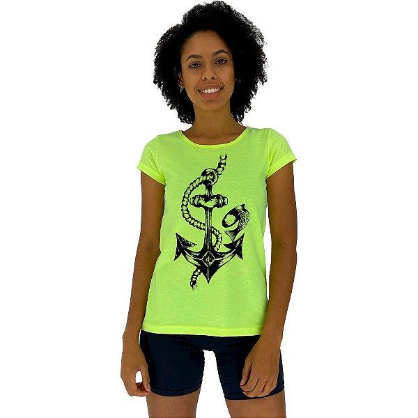Camiseta Babylook Feminina MXD Conceito Ancora Marinha