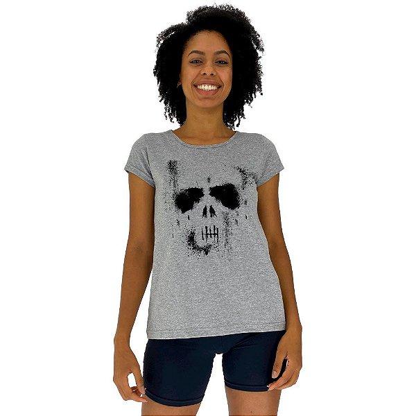 Camiseta Babylook Feminina MXD Conceito Caveira Fantasma