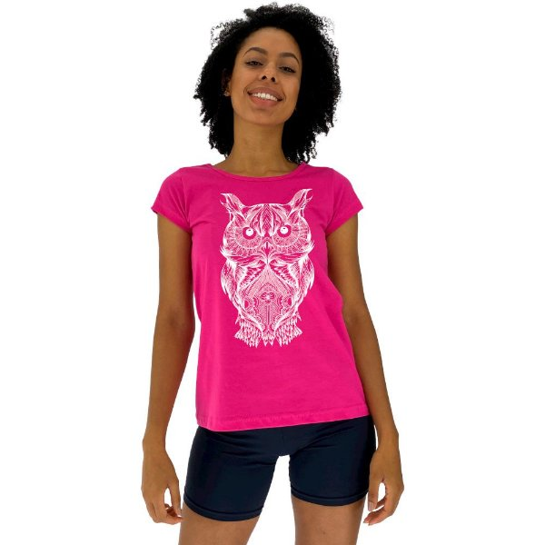 Camiseta Babylook Feminina MXD Conceito Coruja