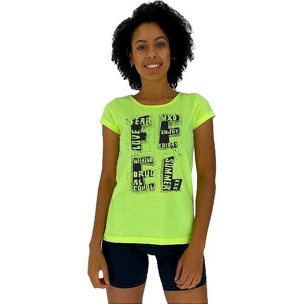 Camiseta Babylook Feminina MXD Conceito Feel Sentir