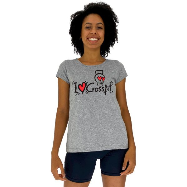 Camiseta Babylook Feminina MXD Conceito I Love Crossfit