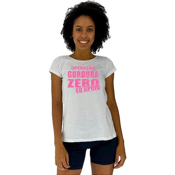 Camiseta Babylook Feminina MXD Conceito Operação Gordura Zero