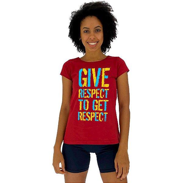 Camiseta Babylook Feminina MXD Conceito Respeite Para Ter Respeito