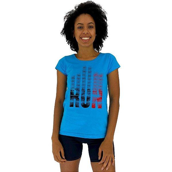 Camiseta Babylook Feminina MXD Conceito Run Corra Saudável